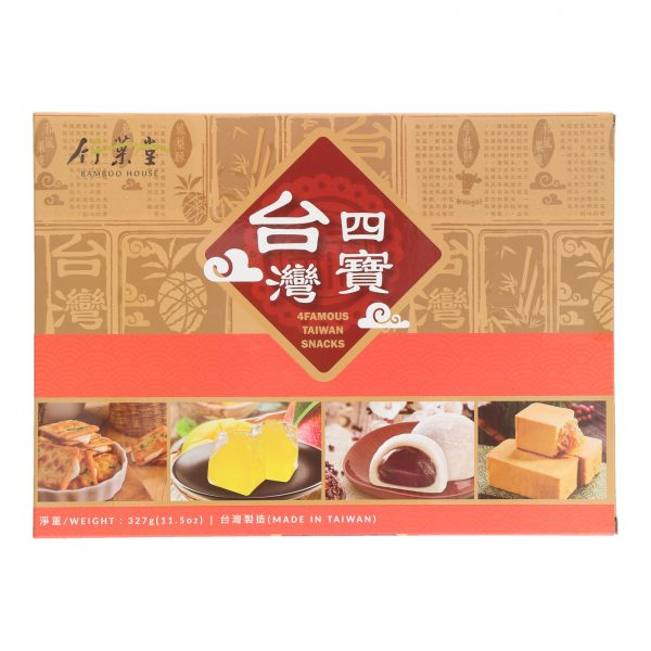 BAMBOO HOUSE 4 FAMOUS TAIWAN SNACKS (327G) (FRONT)