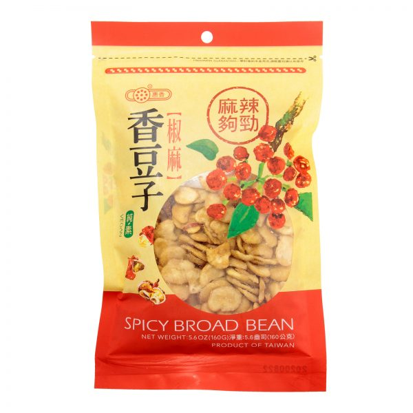 HUI XIANG SPICY FLAVOURED BROAD BEAN (160G) (FRONT)
